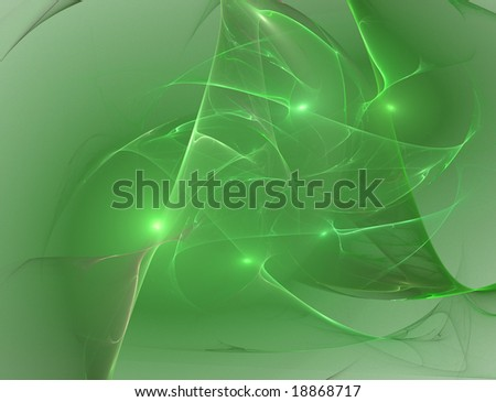 green fractal background