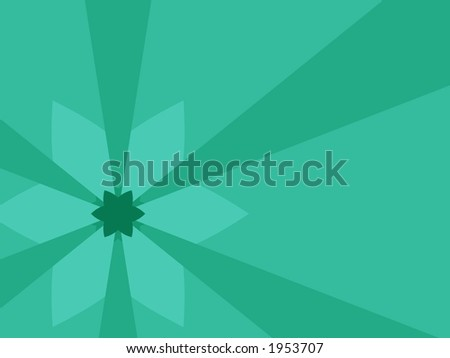 green fractal flower abstract - stock photo