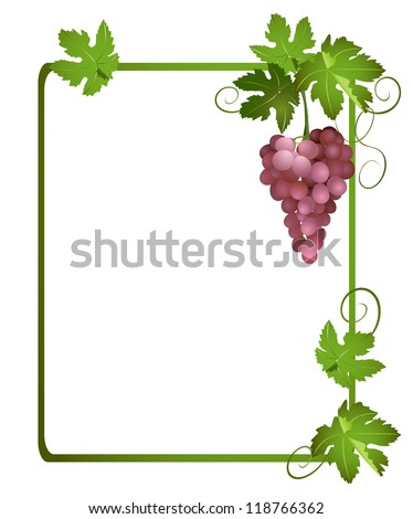 green frame with a bunch of grapes