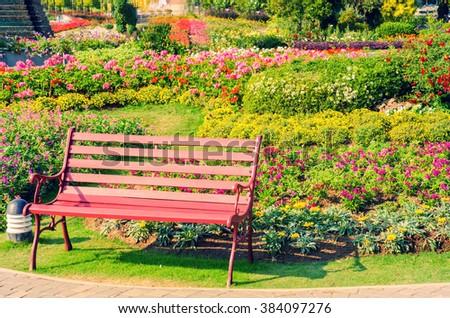 green garden landscape - stock photo