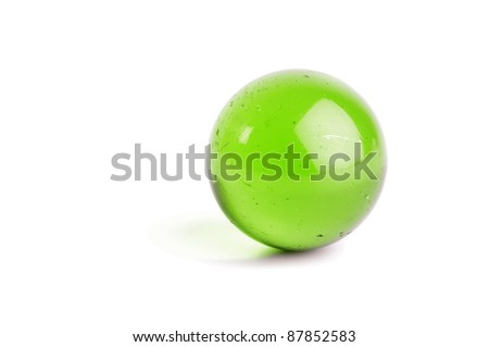 Green glass ball - stock photo