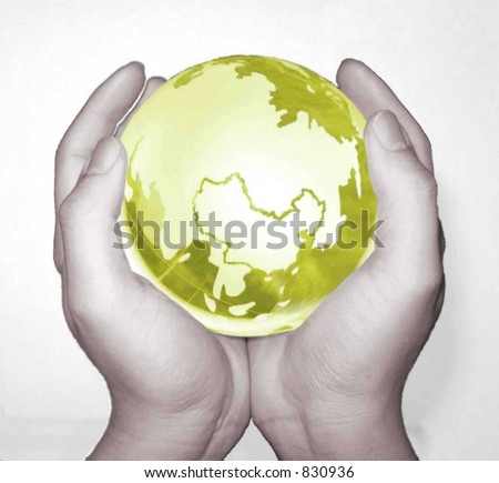 Green Globe - stock photo