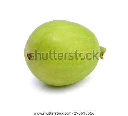 green Granny Smith apple isolated on white, clipping path included - stock photo