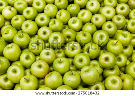 Green Granny smith apples  Healthy and nutritious foods - stock photo