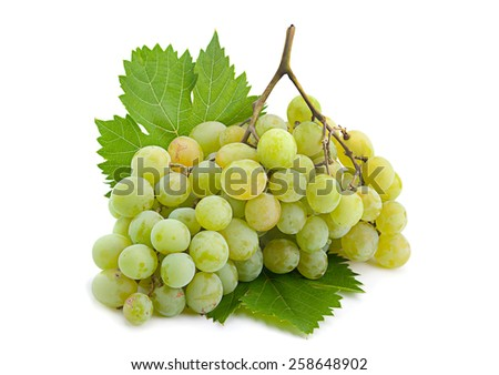 Green grape fruit isolated on white