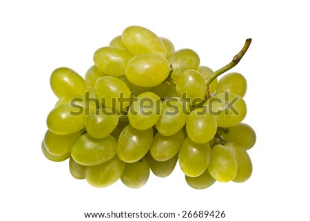 Green grapes, clipping path