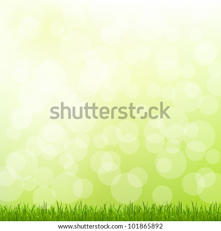 Green Grass And Bokeh And Blur - stock photo