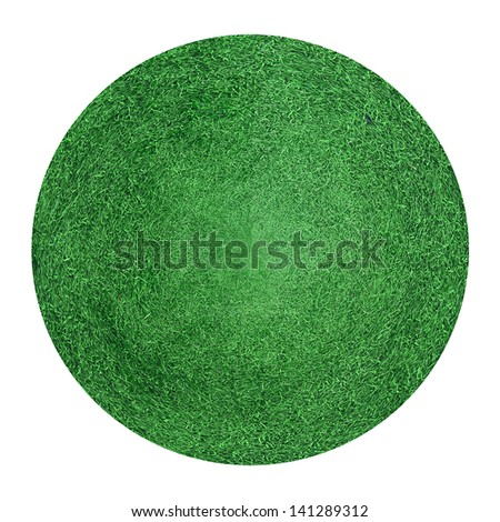 green grass circular field texture background