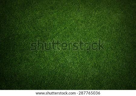 green grass turf floor texture background - stock photo