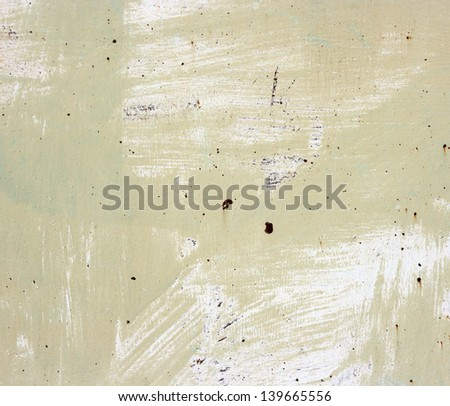 Green grunge background. Old metallic plate with paint. - stock photo