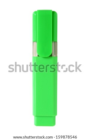 Green highlighter isolated on a white background