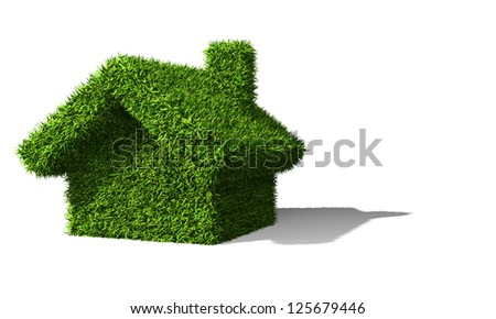 green house ecology isolated on withe background