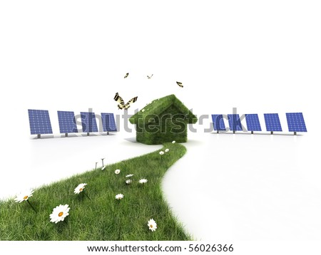 green house for sustainable world - stock photo