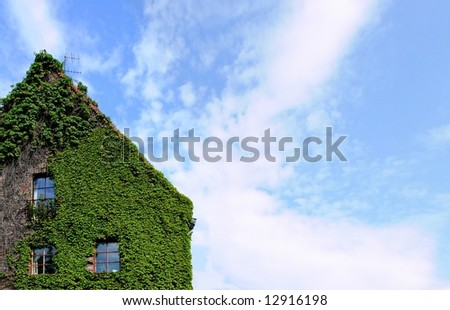 Green house, Museum of architecture building in Wroclaw, Poland - stock photo