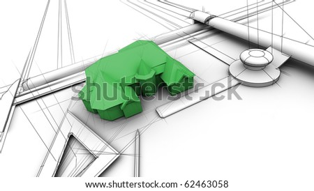 Green House with design effect