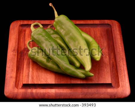 Green Hungarian Peppers - stock photo