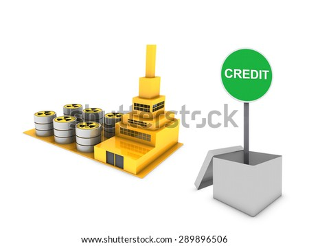green industry - stock photo