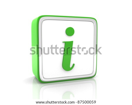 Green information icon - stock photo
