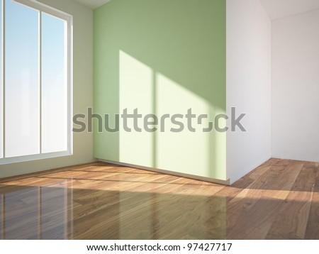 Green interior design stock photo