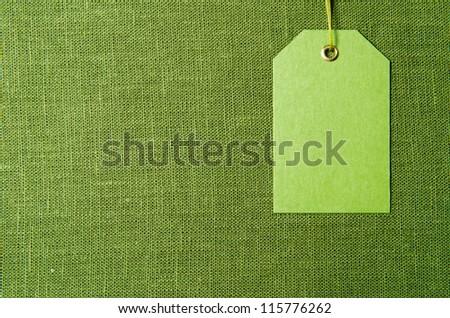 Green label - stock photo