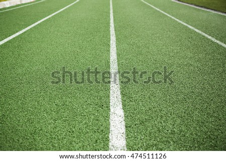 Green lanes on a running track