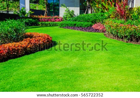 Lawn stock images royalty free images vectors for Formally designed lawn