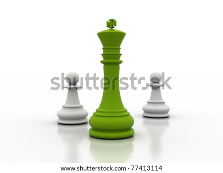 green leadership - stock photo