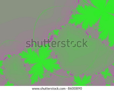 green leaf abstract fractal graphic