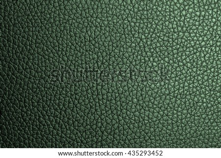 Green leather texture background for design with copy space for text or image.