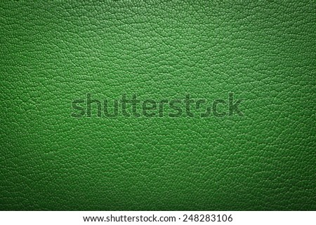green leatherette texture as background - stock photo