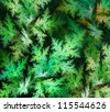 green leaves background fractal illustration - stock photo