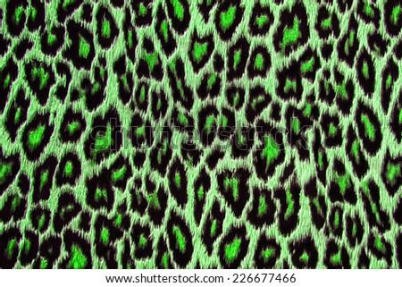 Green leopard, jaguar, lynx skin background - stock photo