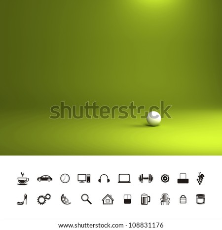 Green light background - stock photo