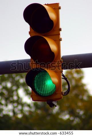 Green Light, traffic light go - stock photo
