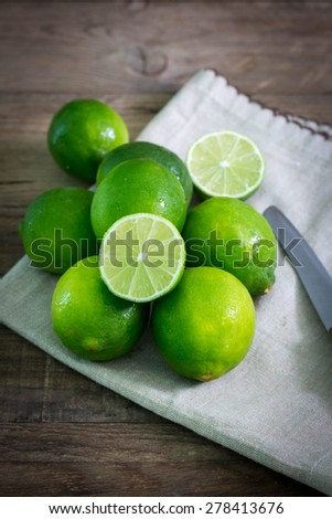 green lime fruit - stock photo