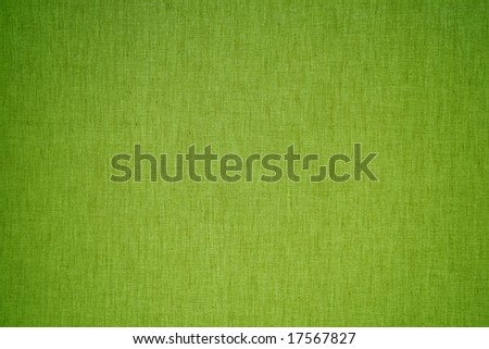 green linen background - stock photo