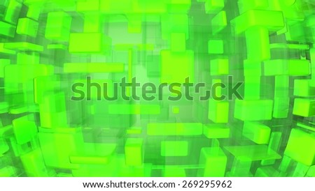 green luminous abstract background