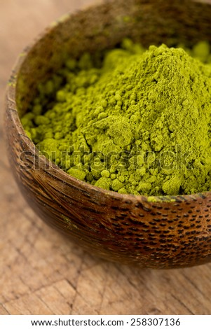 green matcha tea - stock photo