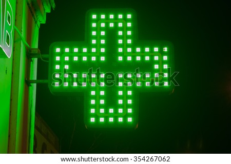 green medicine cross