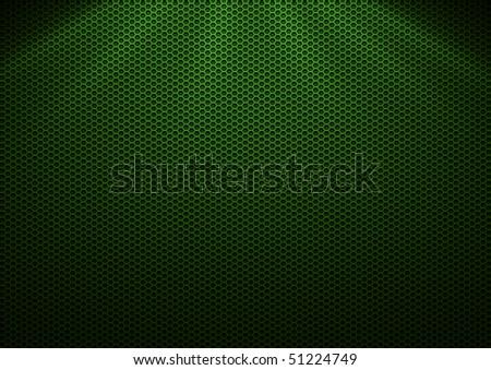 Green Metal Plating & light ray - stock photo