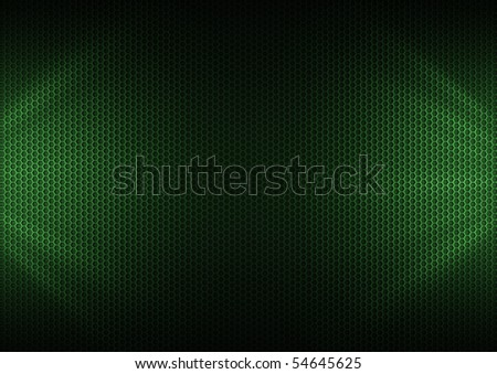 Green metal plating & light ray - stock photo