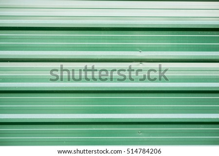 Green metal sheet wall for Background or wallpaper