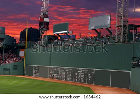 green monster, Fenway Park, Boston, MA