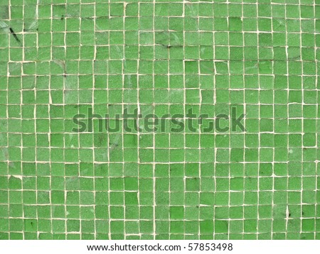 Green mosaics texture close up. More of this motif & more backgrounds in my port. - stock photo
