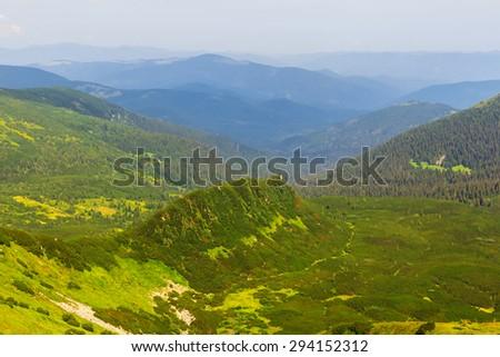 green mountains - stock photo