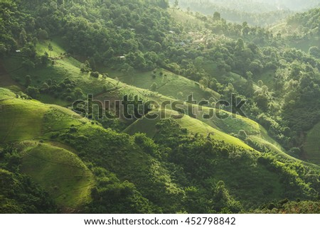 green mountains landscape