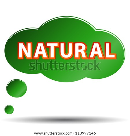 Green natural symbol located on a white background - stock photo