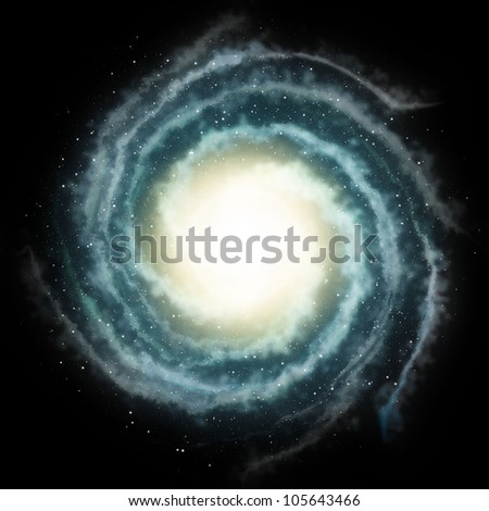 green nebula sky background - stock photo