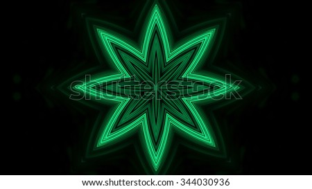 Green neon lights background