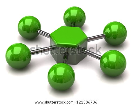 Green network and communication icon